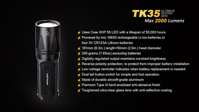 Ladegerät Fenix TK35 Mod.2015 Taschenlampe 2 Fenix ARB-L2 Akku´s OVP ARE-C1