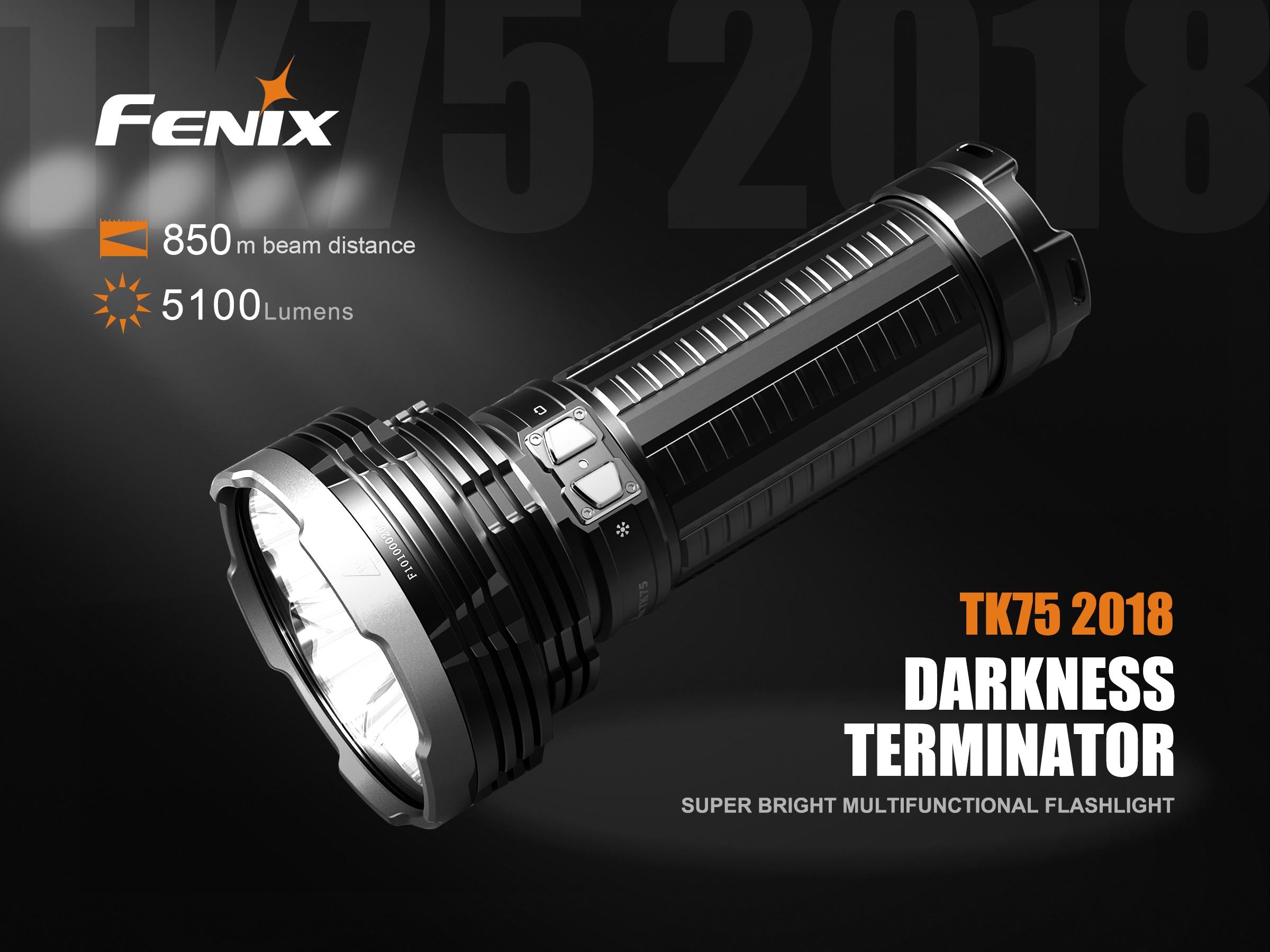 2018 4 Fenix ARB-L18 Akkus Fenix TK75 Mod Fenix ARE-C2+ Ladegerät